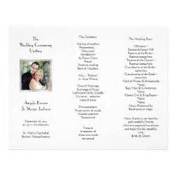 white tri fold photo template wedding program letterhead zazzle