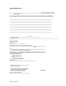 General Affidavit Template by 48 Sle Affidavit Forms Templates Affidavit Of