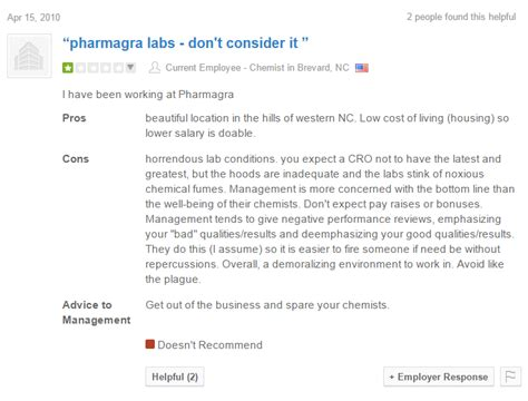 remove negative reviews from glassdoor chemjobber glassdoor review of the week pharmagra labs