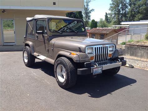 1989 Jeep Yj For Sale 1989 Jeep Wrangler For Sale In Puyallup Wa