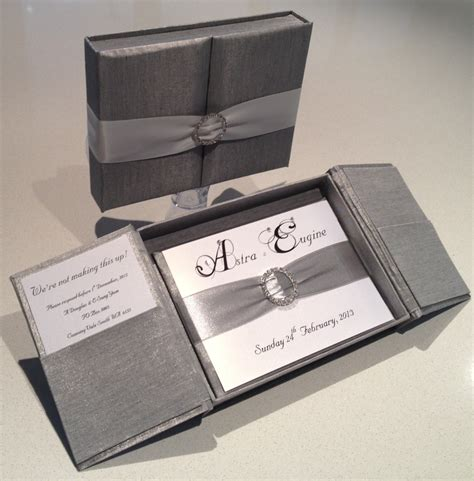 Silk Invitation Boxes and Silk Invitations   My Invite to