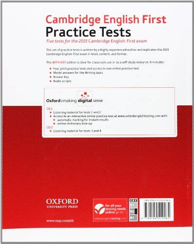 libro practice tests for cambridge libro cambridge english first practice tests student s