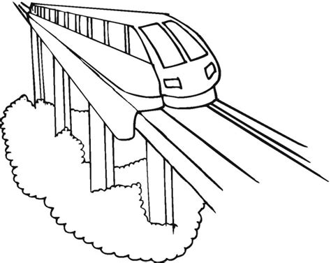 Modern Train Coloring Page Modern Coloring Pages