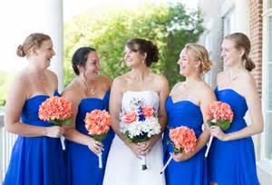 cobalt blue and coral virginia wedding rebecca amp robert wedding colors