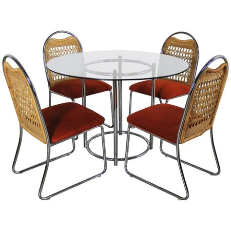 Daystrom Furniture by Mid Century Daystrom Glass Chrome Dinette Table And
