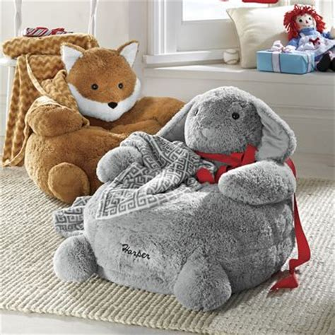Stuffed Animal Chairs by Personalized Plush Animal Chair With Blanket From Through