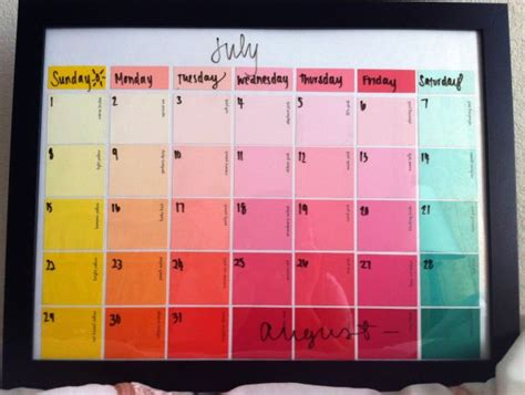 make a wall calendar 7 easy diy calendar ideas