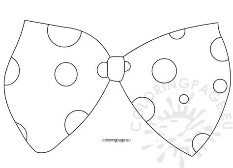 free coloring pages of bow ties large clown bow tie template coloring page