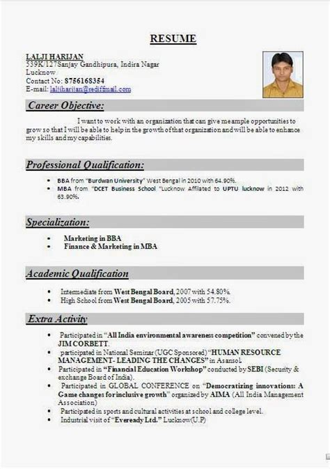 Resume Format Pdf For Bba Students resume format for bba graduates resume ideas