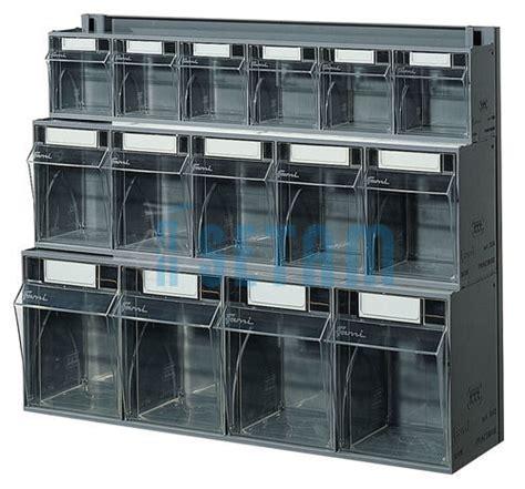 bloc tiroir mural plastique praticbox 15 tiroirs avec cadre