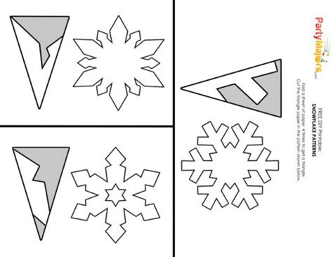 snowflake templates easy best 25 paper snowflakes ideas only on 3d