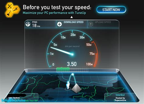 speed test net adsl h箟z testi uygulamas箟 speedtest net 箘le 箘nternet