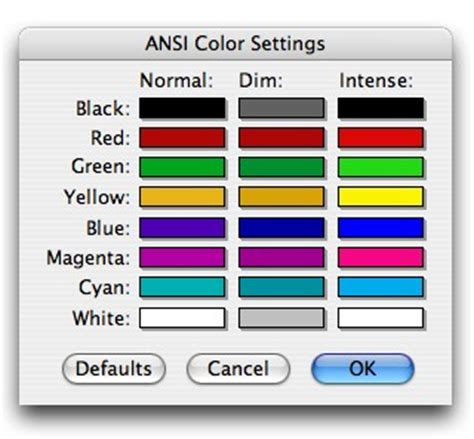 ansi colors heynow software savitar manual ch5 savitar settings
