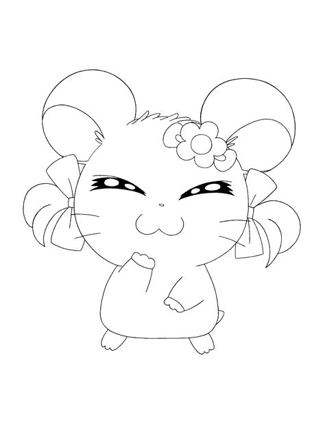 hamtaro coloring pages hamtaro coloring page characters coloring pages