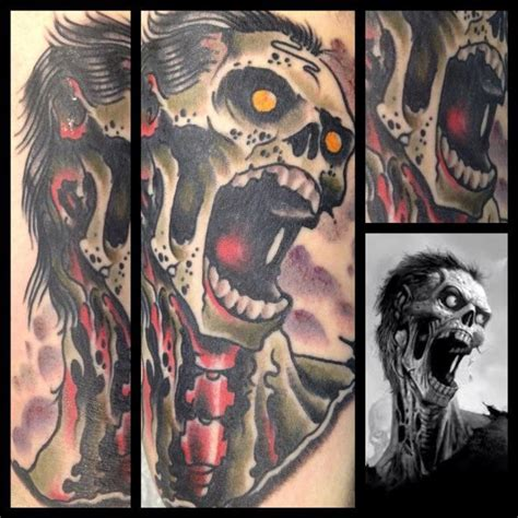 tattoo old school zombie off the map tattoo