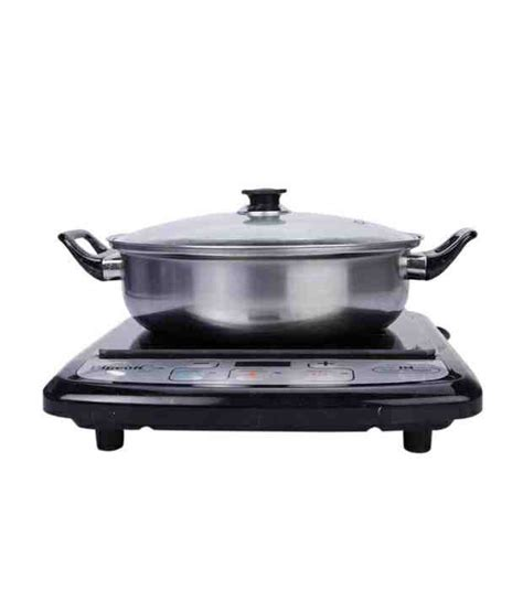 induction cooker pigeon pigeon induction cooker rapido eco lx with free induction friendly vessel price in india buy