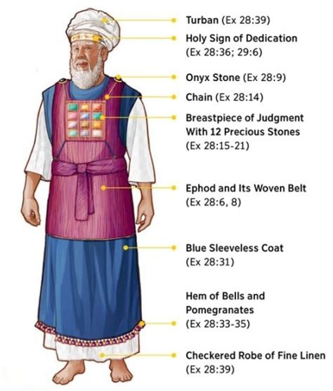 las vestiduras del sumo sacerdote de israel el shamir el pectoral del sumo sacerdote y el templo del
