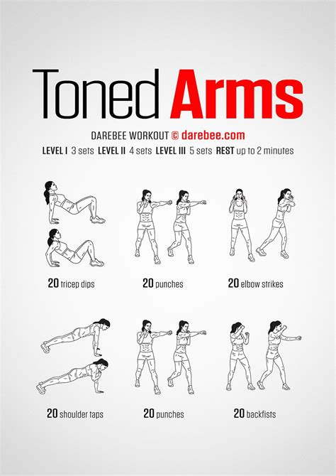 bedroom workout routine toned arms workout get fit darebee neila rey