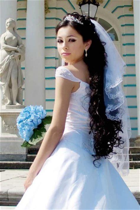 Hochzeitsfrisur Glatte Haare by Brautfrisuren Lange Haare Mit Schleier Hochzeitsportal24