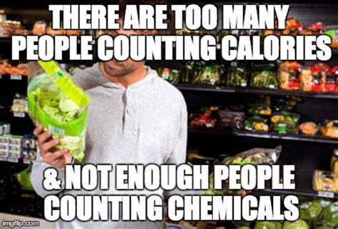 Healthy Food Meme - there are too many people counting calories and not enough
