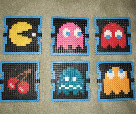 pattern jeu video pac man beverage coasters perler beads 6 steps