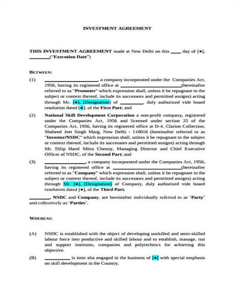 equity agreement template equity accumulation plan agreement sle equity 23