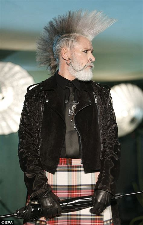 old lady mohawk ageing punks with grey mohawks rule at jean paul gaultier