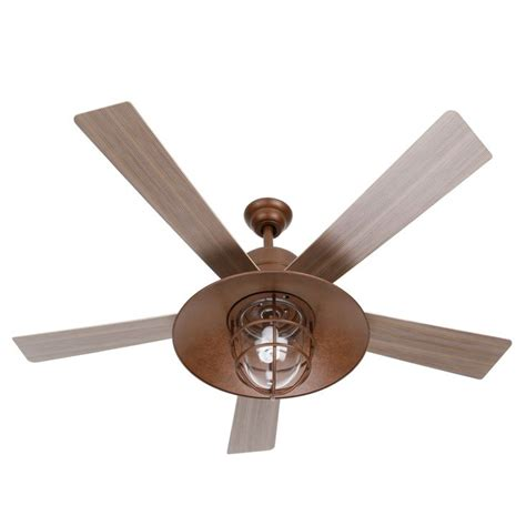 rustic farmhouse ceiling fan metro 54 in rustic copper indoor outdoor ceiling fan