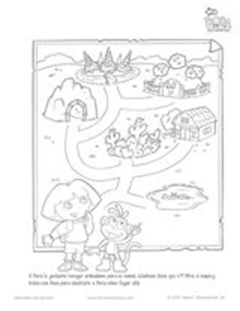 coloring pages spanish explorers dora the explorer map english printable pre k 1st