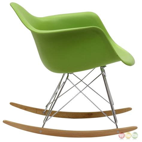 Rocking Lounge Chair by Rocker Molded Plastic Rocking Lounge Chair With Chrome