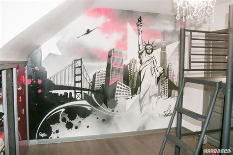 Impressionnant Dessin Mural Chambre Adulte #2: peinture-murale-deco-new-york.jpg