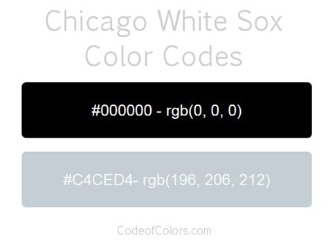 white sox colors chicago white sox colors hex and rgb color codes