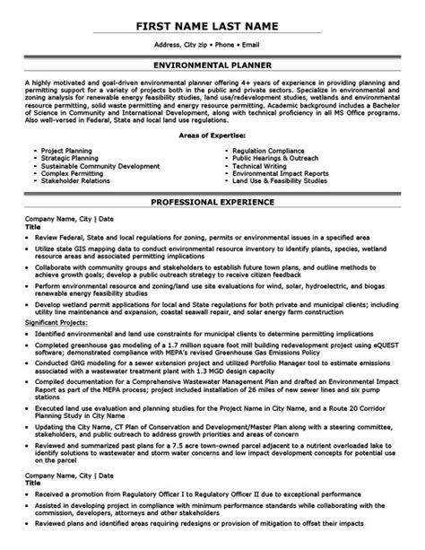 Planning Technician Sle Resume by Environmental Protector Or Advocator Resume Template Premium Resume Sles Exle