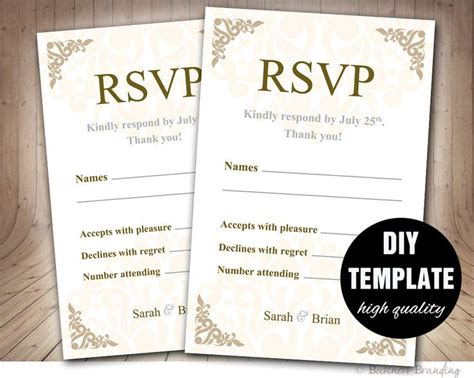 wedding response card template lovely ways to word your rsvp card