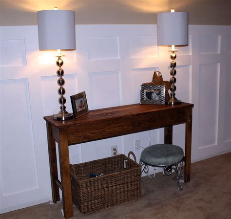 white entry table ana white entry table diy projects