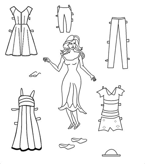 printable paper doll template paper dolls free premium templates