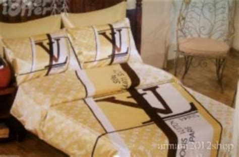 louis vuitton luxury bed set queen size 6 pieces by 002 louis vuitton 6pcs authentic luxury bed set satin made