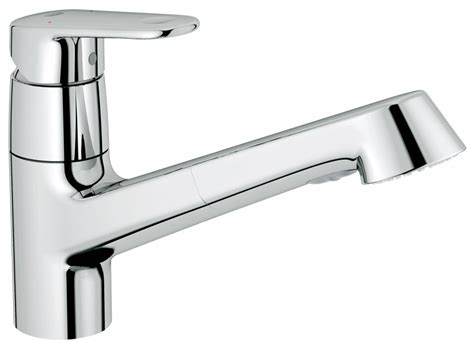 Grohe Europlus Kitchen Faucet by Grohe 32946002 Starlight Chrome Europlus Pull Out Kitchen