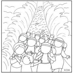 parting red sea colouring pages