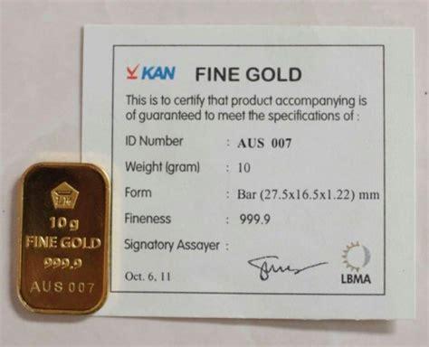 Lm Antam 5gr Gold Bar logam mulia