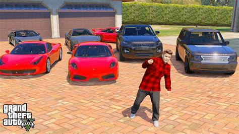 gta 5 real car mods my car collection youtube justin bieber gta 5 real life mod 3 my 10million dollar