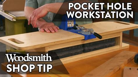 woodworking tip pocket hole jig workstation youtube