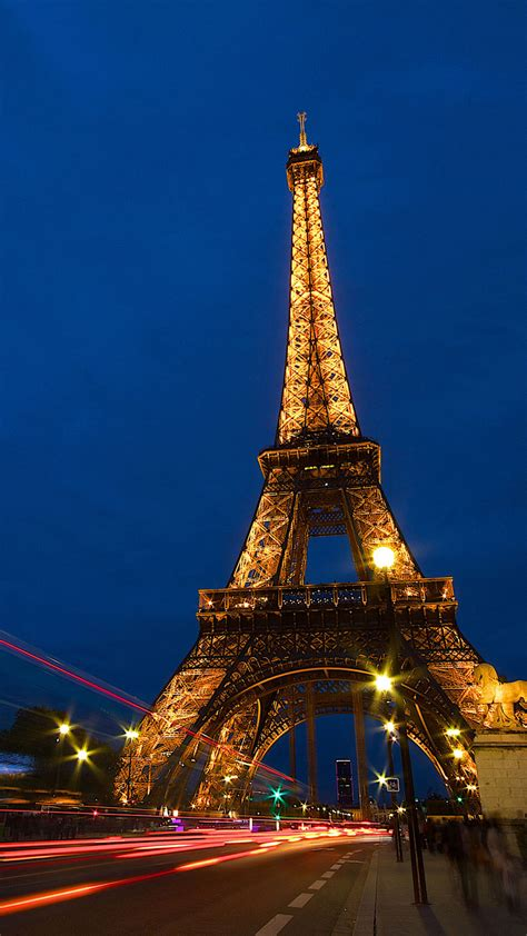 wallpaper android paris eiffel tower lock screen night android wallpaper free download