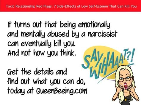 toxic narcissist toxic relationship red flags 7 side effects of low self
