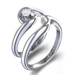 matching wedding ring sets half bezel matching wedding set in 14k white gold