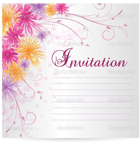 template invitation card invitation blank templates cloudinvitation