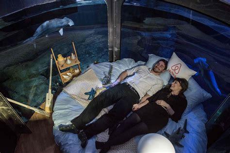 aquarium in bedroom paris aquarium s underwater bedroom