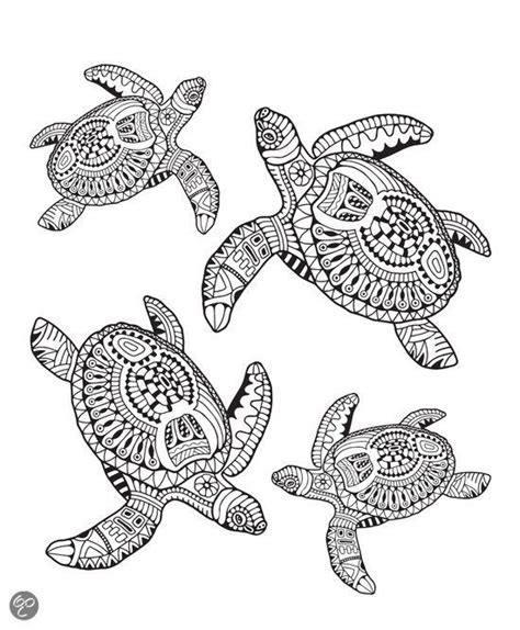 turtle coloring book for adults stress relieving coloring book for teenagers advanced coloring pages detailed pages therapy meditation practice books mindful kleuren voor volwassenen turtles bol mindful