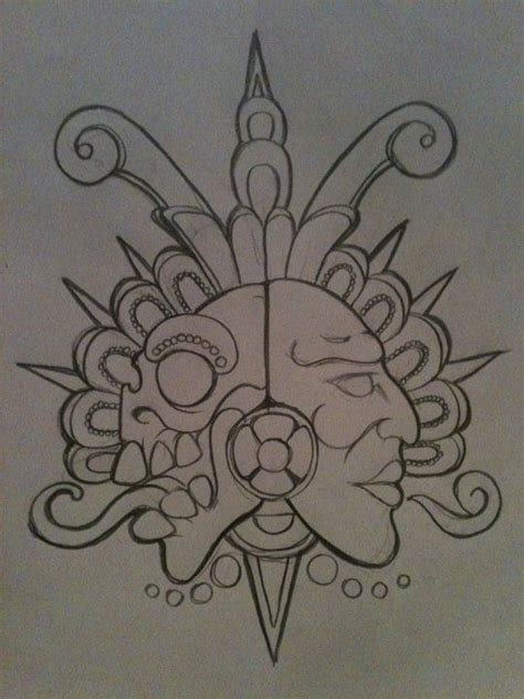 duality tattoo designs 25 best ideas about aztec drawing on aztec