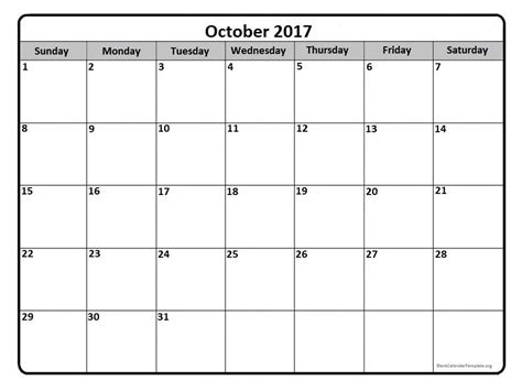printable calendar month of october 2017 october 2017 calendar october 2017 calendar printable